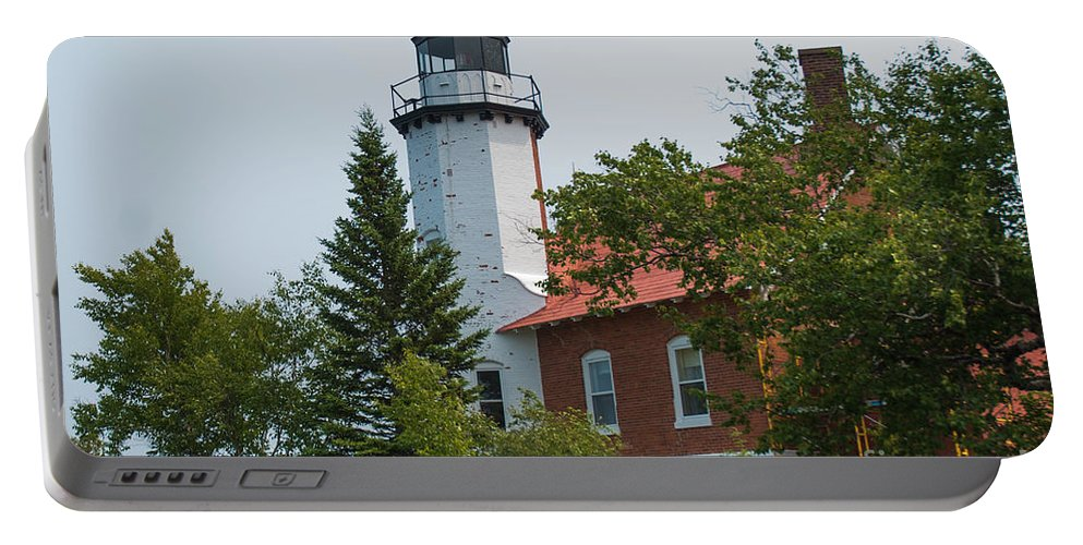 Lighthouse Portable Battery Charger featuring the photograph Lighthouse 3 by Wesley Farnsworth