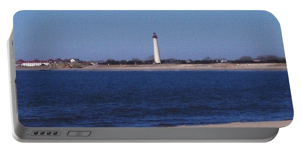 Lighthouse Portable Battery Charger featuring the photograph Lighthouse At The Point by Pharris Art