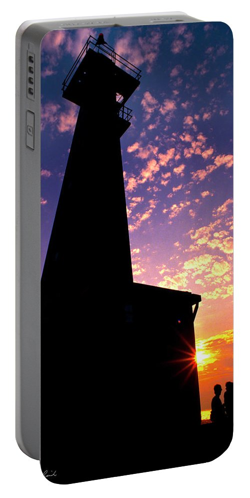 Photography Portable Battery Charger featuring the photograph Lighthouse Lovers by Frederic A Reinecke