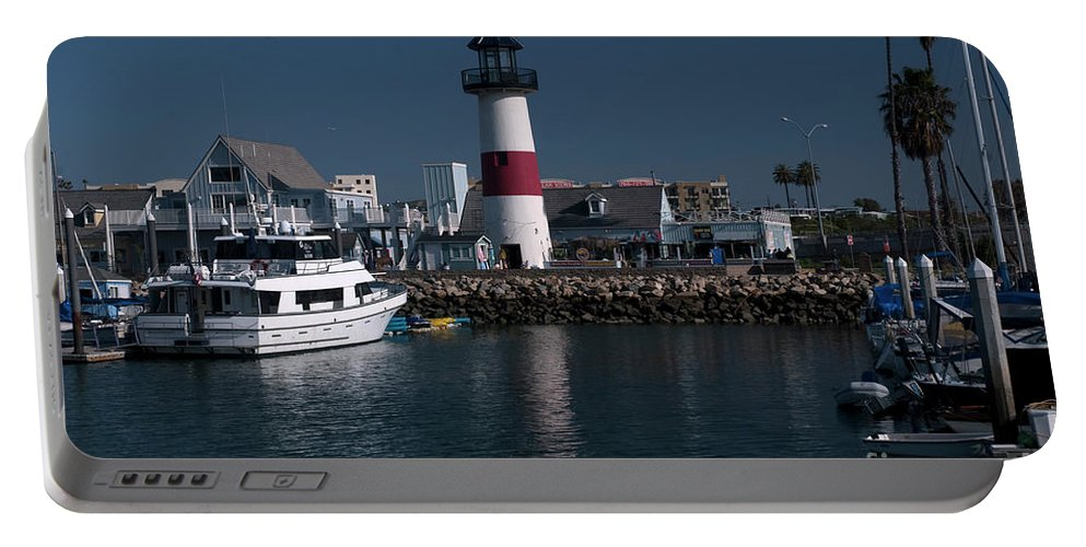 Oceanside Portable Battery Charger featuring the photograph Lighthouse by Rod Wiens