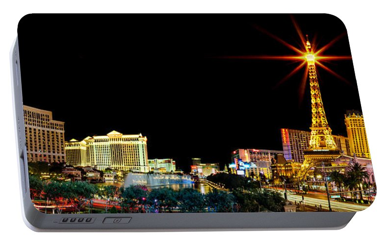 Las Vegas Portable Battery Charger featuring the photograph Lighting Up Vegas by Az Jackson