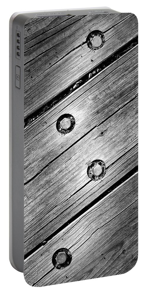 Wood Portable Battery Charger featuring the photograph Lightning Bolt by Luke Moore