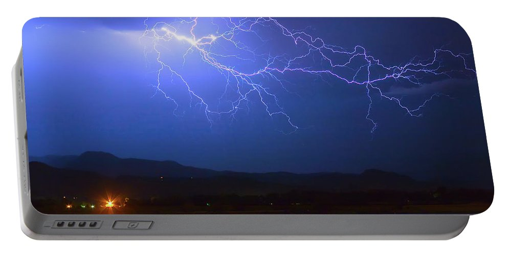 Lightning Portable Battery Charger featuring the photograph Lightning From Heaven by James BO Insogna
