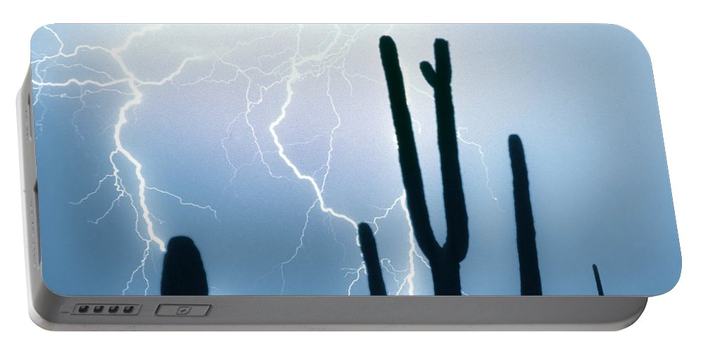 Lightning Portable Battery Charger featuring the photograph Lightning Storm Chaser Payoff by James BO Insogna