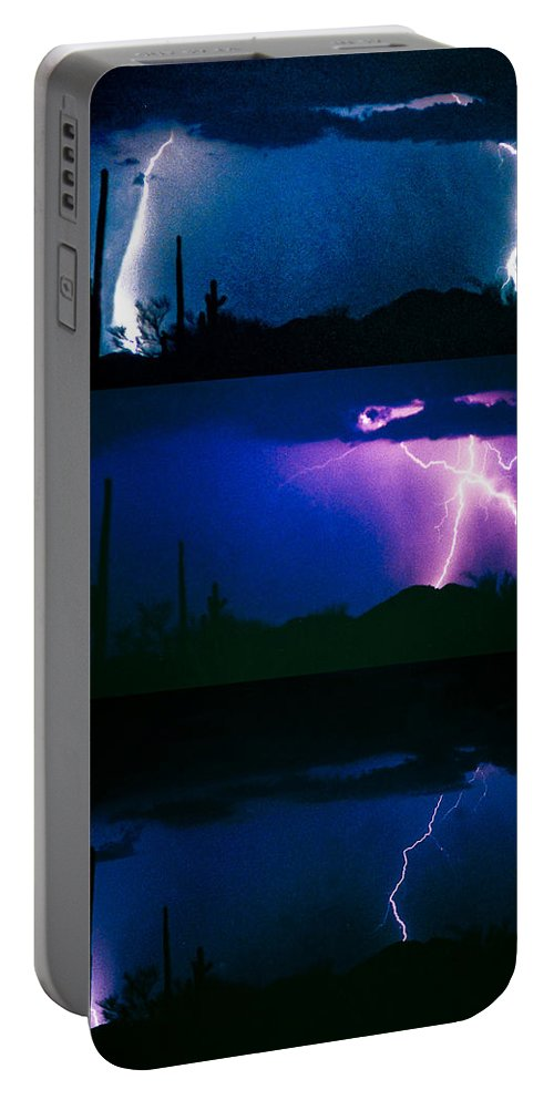 Lightning Portable Battery Charger featuring the photograph Lightning Storm Progression by James BO Insogna
