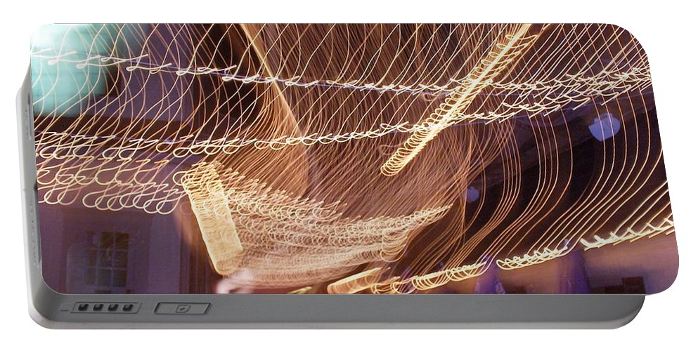 Photograph Portable Battery Charger featuring the photograph Lights That Dance Together by Thomas Valentine