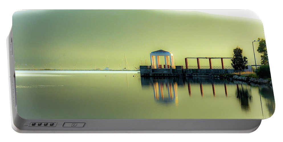 Landscape. Sea. Reflections. Portable Battery Charger featuring the photograph Like A Dream by Yau Ming Low