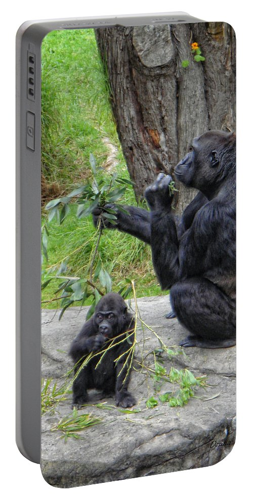 Gorrilla Portable Battery Charger featuring the photograph Like Mother Like Child by Donna Blackhall