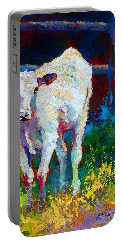 Western Portable Battery Charger featuring the painting Like My Daddy by Marion Rose