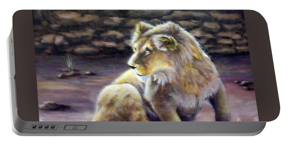 Fuqua - Artwork. Wildlife Portable Battery Charger featuring the painting Like Son by Beverly Fuqua