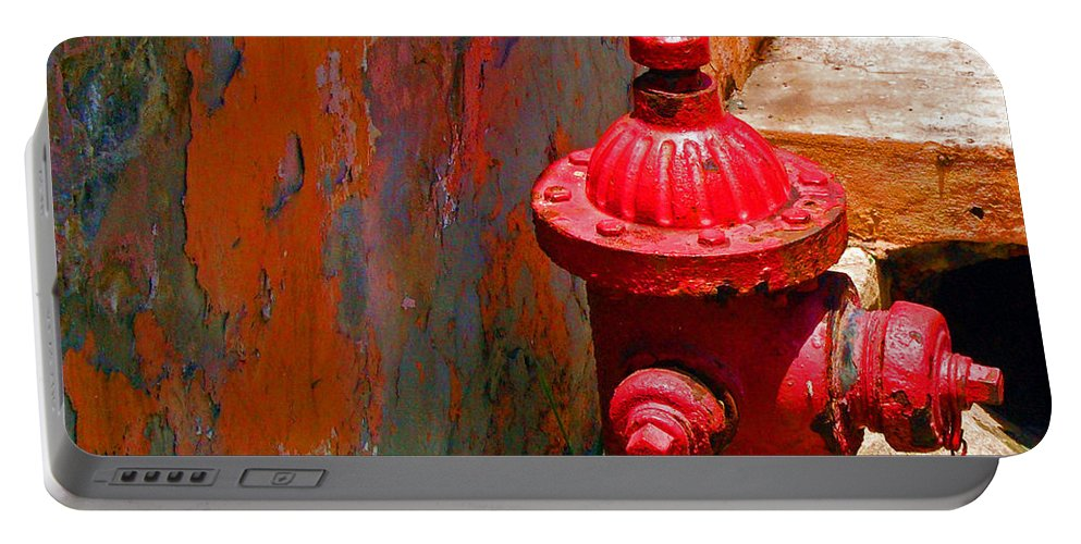 Red Portable Battery Charger featuring the photograph Lil Red by Debbi Granruth