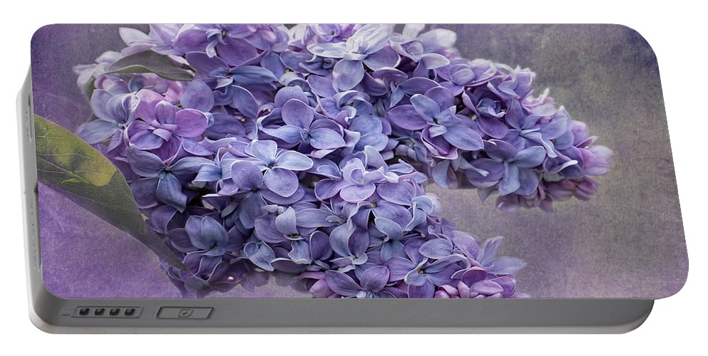Lilac Portable Battery Charger featuring the photograph Lilac Spring by Barbara McMahon
