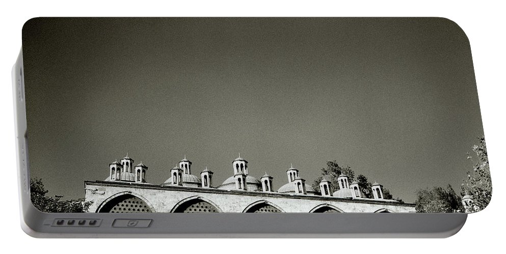 Istanbul Portable Battery Charger featuring the photograph Lilliputian Minarets by Shaun Higson