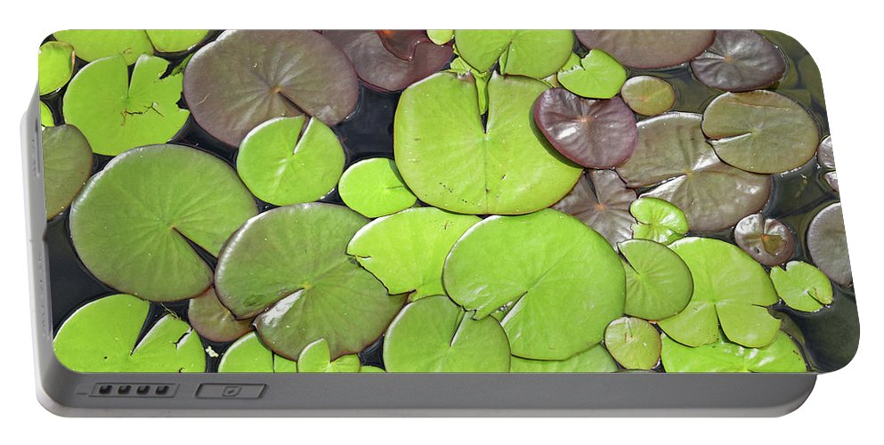 Lily Portable Battery Charger featuring the photograph Lily Pads #1 by Sydney Thompson