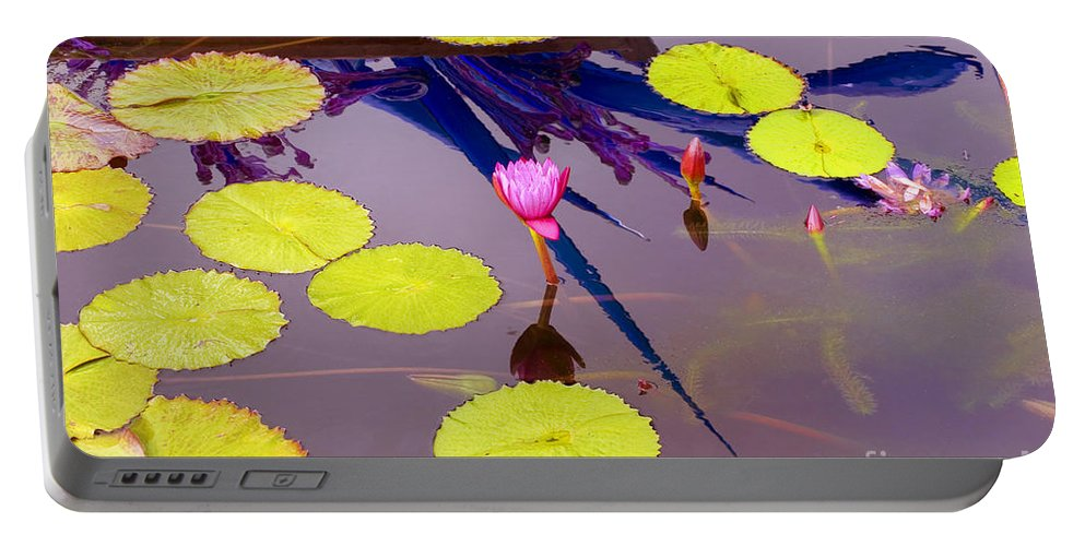 Lily Pad Portable Battery Charger featuring the photograph Lily Pads 2 by Madeline Ellis