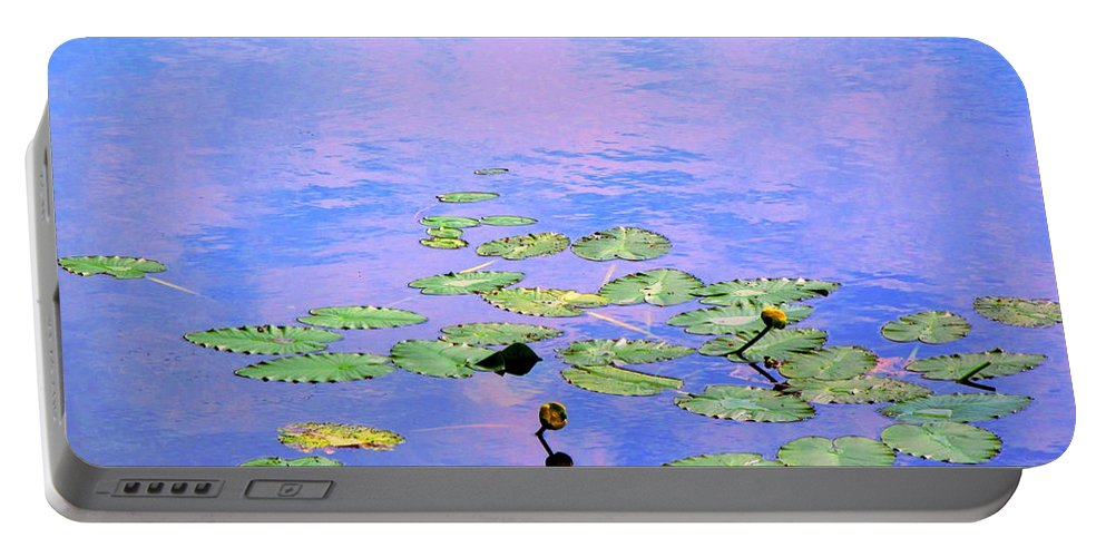 Water Portable Battery Charger featuring the photograph Laying Low Like A Lily Pond by Sybil Staples
