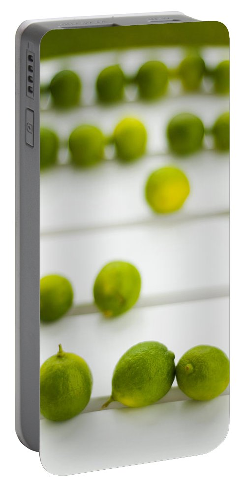 Green Portable Battery Charger featuring the photograph Lime Green by Skip Hunt