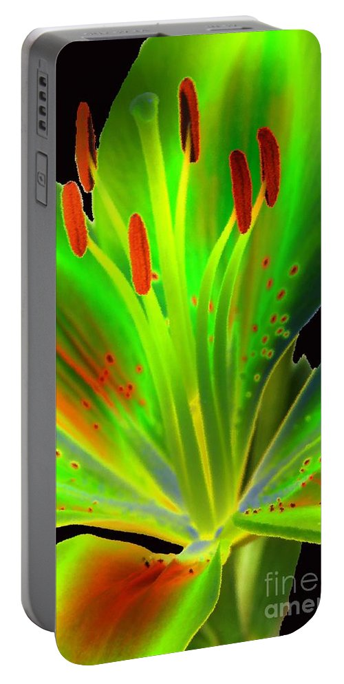 Diane Berry Portable Battery Charger featuring the photograph Lime Twist by Diane E Berry