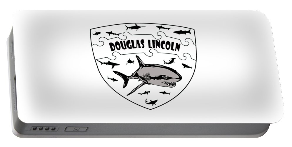 Lincoln Portable Battery Charger featuring the digital art Lincoln by Hannah Dori