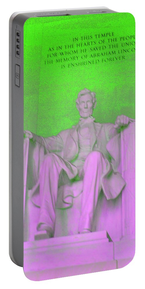 Green Portable Battery Charger featuring the photograph Lincoln In Green by Jost Houk