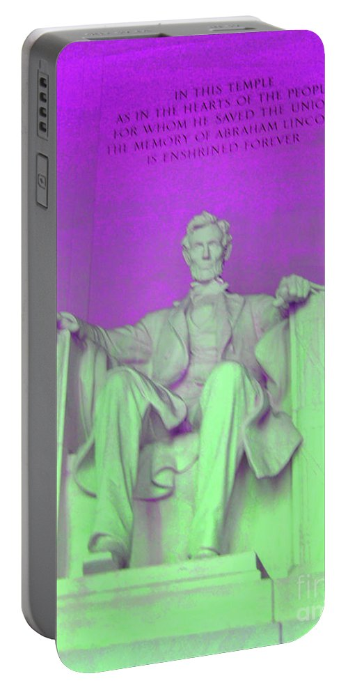 Lincoln Portable Battery Charger featuring the photograph Lincoln In Purple by Jost Houk