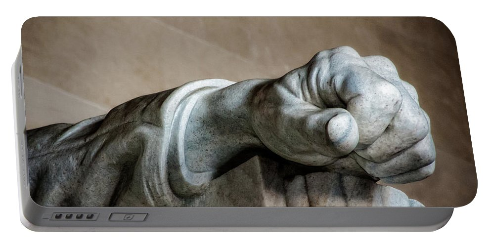 Hand Portable Battery Charger featuring the photograph Lincoln's Left Hand by Christopher Holmes