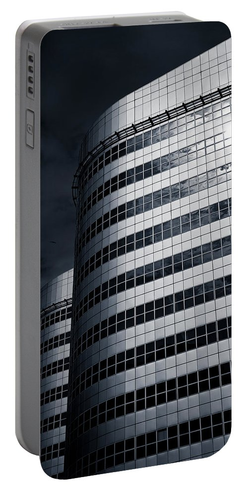 Architecture Portable Battery Charger featuring the photograph Lines And Curves by Dave Bowman