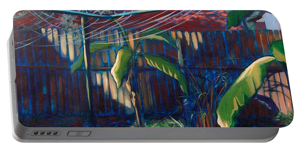 Art Portable Battery Charger featuring the painting Lines And Light by Julianne Felton