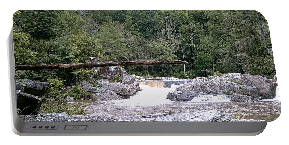 Landscape Appalachian Mountains Nc Portable Battery Charger featuring the photograph Linville Trail...dare To Walk A Limb by Sarahjo Hawes
