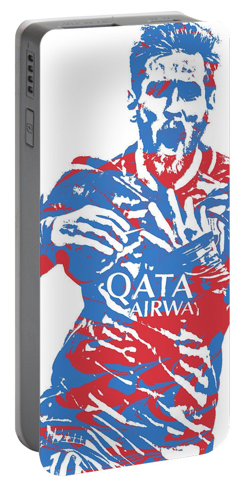 48f5a4df4e5 Lionel Messi Portable Battery Charger featuring the mixed media Lionel  Messi F C Barcelona Argentina Pixel Art