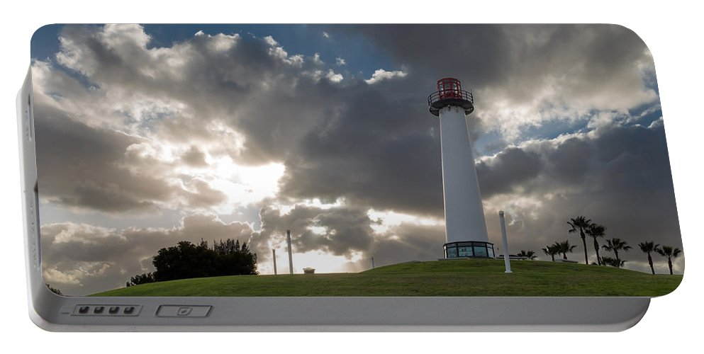 Lighthouse Portable Battery Charger featuring the photograph Lion's Lighthouse For Sight - 2 by Ed Clark