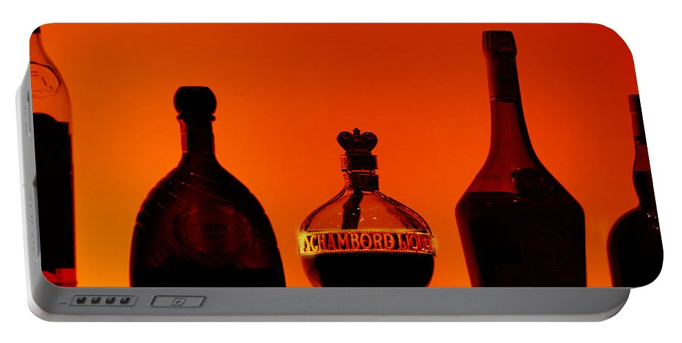 Still Life Portable Battery Charger featuring the photograph Liquor Still Life by Jill Reger