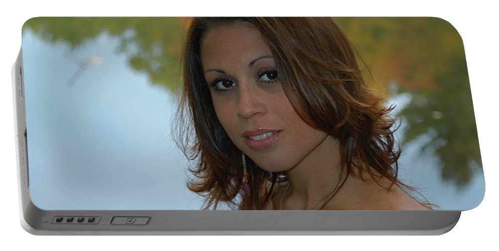 Model Portable Battery Charger featuring the photograph Lisa by Mike Martin