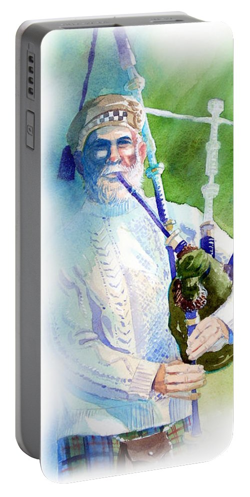 Scotland Portable Battery Charger featuring the painting Listen O Listen by Lee Klingenberg