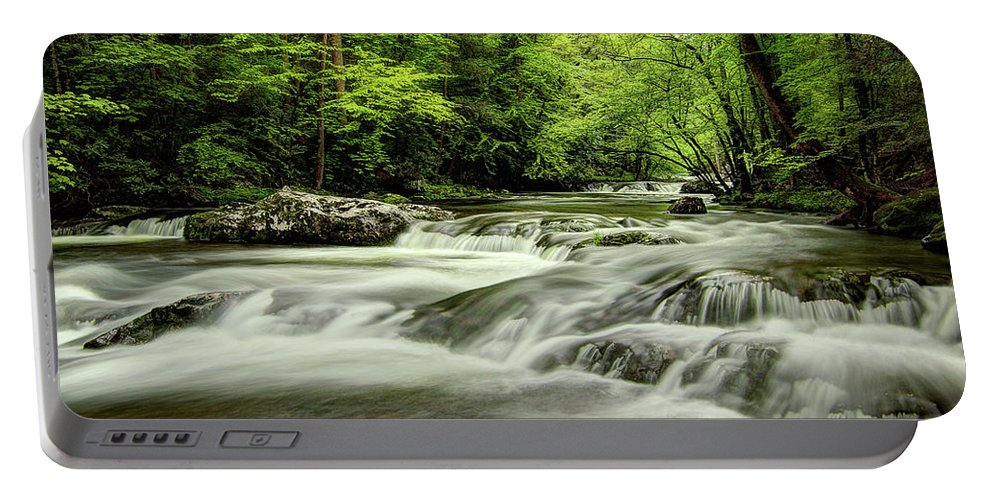 Tennessee Stream Portable Battery Charger featuring the photograph Listening To The Song Of The Stream by Mike Eingle