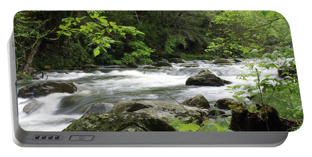 River Portable Battery Charger featuring the photograph Litltle River 1 by Marty Koch
