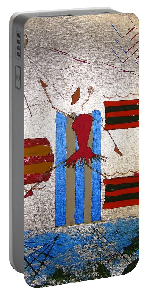 Ballerina Portable Battery Charger featuring the mixed media Little Ballerina by J R Seymour
