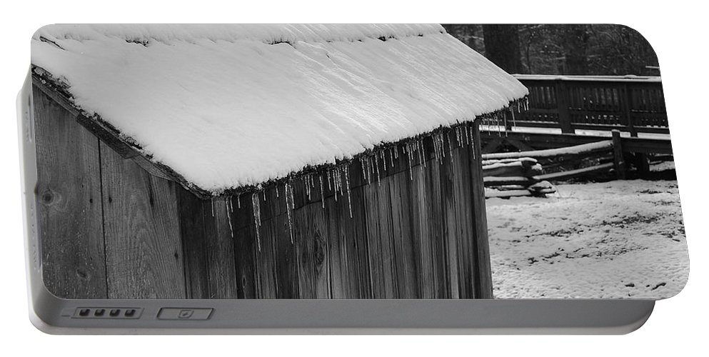 Landscape Portable Battery Charger featuring the photograph Little Brown Shed by Eric Liller