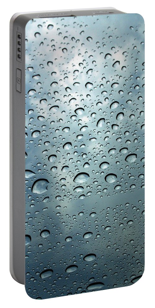 Photography Portable Battery Charger featuring the photograph Little Drops Of Rain by Linda Sannuti