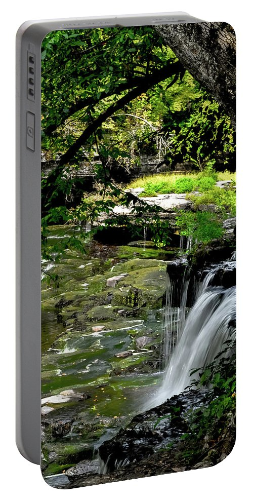 Water Portable Battery Charger featuring the photograph Little Falls by Michelle Rollins