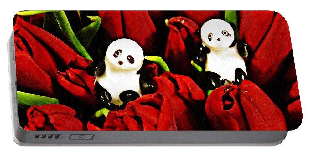 Panda Portable Battery Charger featuring the photograph Little Glass Pandas 80 by Sarah Loft