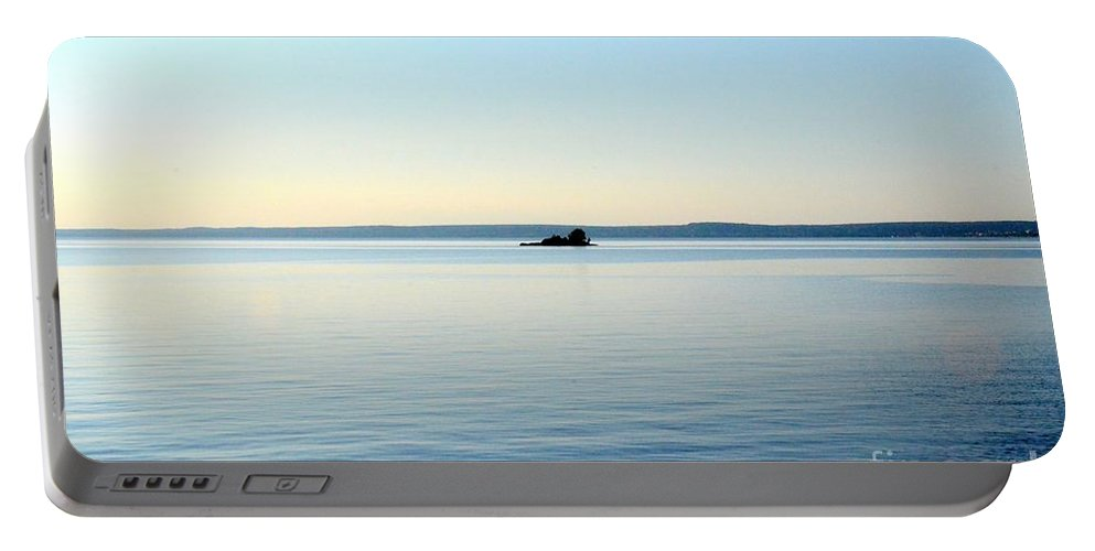 Lake Nipissing Portable Battery Charger featuring the photograph Little Island by Elaine Berger