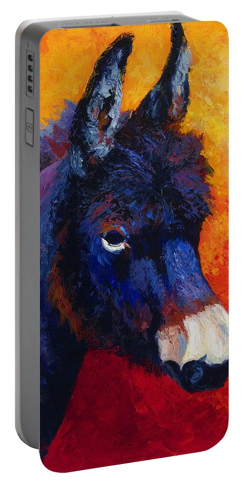 Burro Portable Battery Charger featuring the painting Little Jack - Burro by Marion Rose