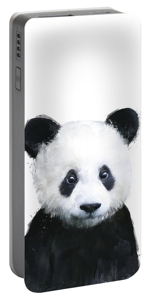 Panda Portable Battery Charger featuring the painting Little Panda by Amy Hamilton