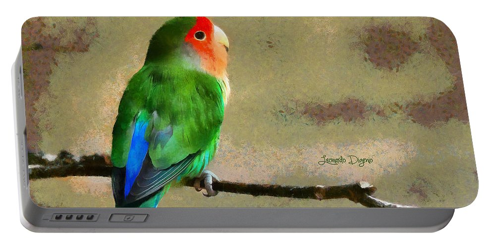 Agama Portable Battery Charger featuring the painting Little Periquito by Leonardo Digenio