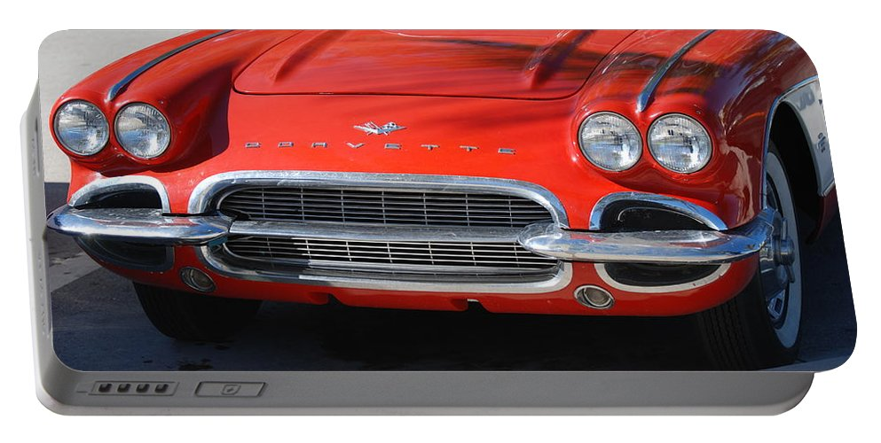 Corvette Portable Battery Charger featuring the photograph Little Red Corvette by Rob Hans
