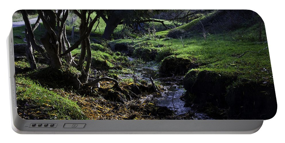 Stream Portable Battery Charger featuring the photograph Little Stream by Kelly Jade King