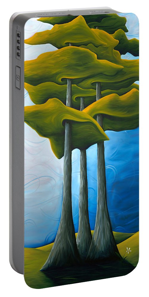 Landscape Portable Battery Charger featuring the painting Living In The Shadow by Richard Hoedl