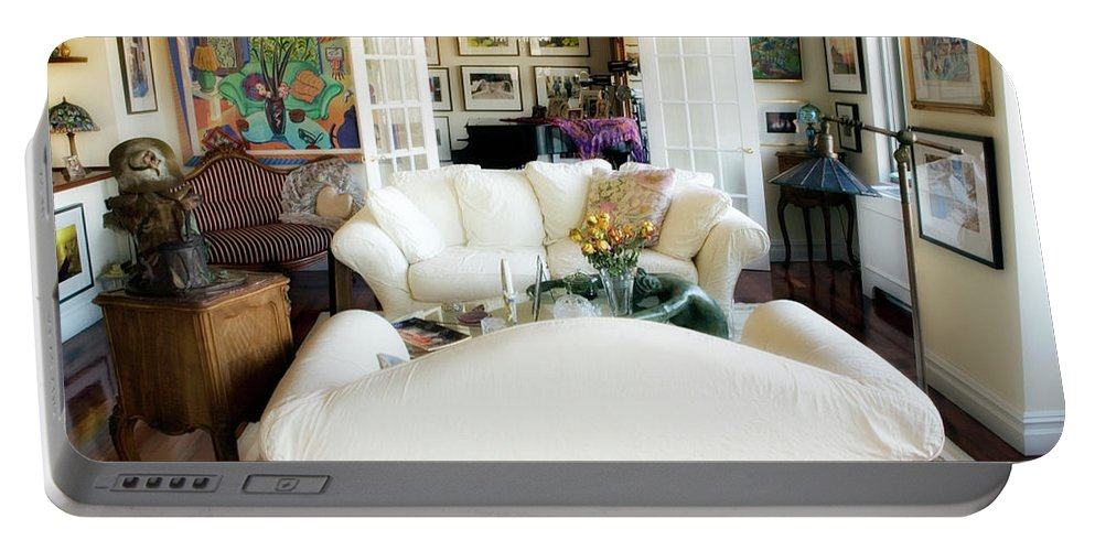 Living Room Portable Battery Charger featuring the photograph Living Room Iv by Madeline Ellis
