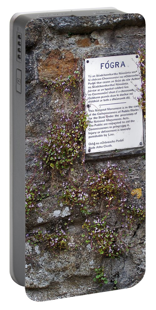 Irish Portable Battery Charger featuring the photograph Living Wall At Donegal Castle Ireland by Teresa Mucha